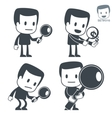 search icon man set016 vector image