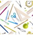 School supplies seamless pattern EPS 10 vector image