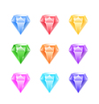 Gems and diamonds icons set vector image vector image