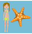 funny summer background vector image vector image