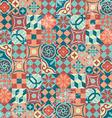 Seamless pattern patchwork vintage mosaic oriental vector image