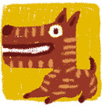 Rude dog vector image