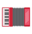 accordion flat icon music and instrument vector image