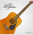 acoustic guitar bright background vector image