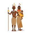 African couple with a baby in traditional ethnic vector image