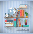 Bookshelves with textbooks vector image