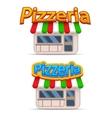Cartoon pizzeria icon vector image