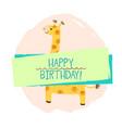 girafe element of card vector image