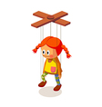 icon marionette vector image