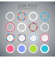 Low Poly Round Banners Set vector image