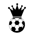 monochrome soccer ball with crown vector image
