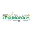 technology word vector image