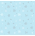 Christmas pattern with snowflakes on a blue winter vector image