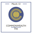 Commonwealtth Day vector image