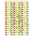 carnival streamers vector image vector image
