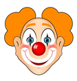 smiling clown vector image vector image