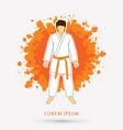 karate suit with orange martial arts belts vector image