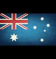 Grunge Flag Of Australia vector image