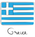 Greece doodle flag vector image vector image