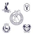 Deer emblem vector image