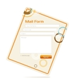 contact form vector image vector image