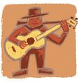 Rude bluesman vector image