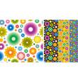 flower wallpaper background vector image vector image