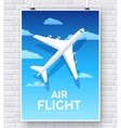 Air flight plane with house home vector image