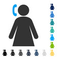 calling woman icon vector image