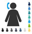 calling woman icon vector image