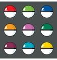 icon set of color balls vector image