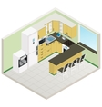 isometric kitchen interior vector image