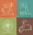 Kitchenware icons set vector image