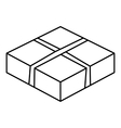 Level box icon outline style vector image