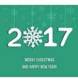 New Year decoration 2017 vector image