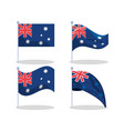 new zealand flags vector image