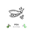 pea icon vegetables logo peas in a pod vector image