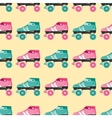 seamless pattern with retro skates vector image