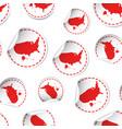 usa map sticker seamless pattern background vector image