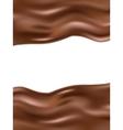 Wavy chocolate background EPS 10 vector image
