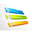 3 horizontal banners with numbers and place for vector image