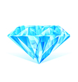 diamond blue crystal vector image vector image
