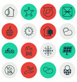 set of 16 ecology icons includes guard tree sea vector image