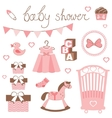 Little lady baby shower vector image vector image