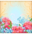 Retro flowers roses background vector image vector image