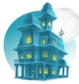 Image of a haunted house on a background of the vector image
