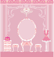 elegant style dressing room vector image