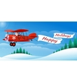 Santa on the Airplane vector image