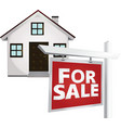 for sale home vector image