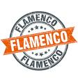flamenco round orange grungy vintage isolated vector image